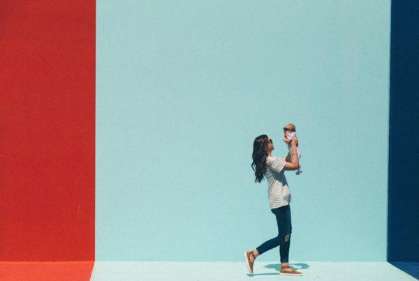 maternità mamma con bambino
