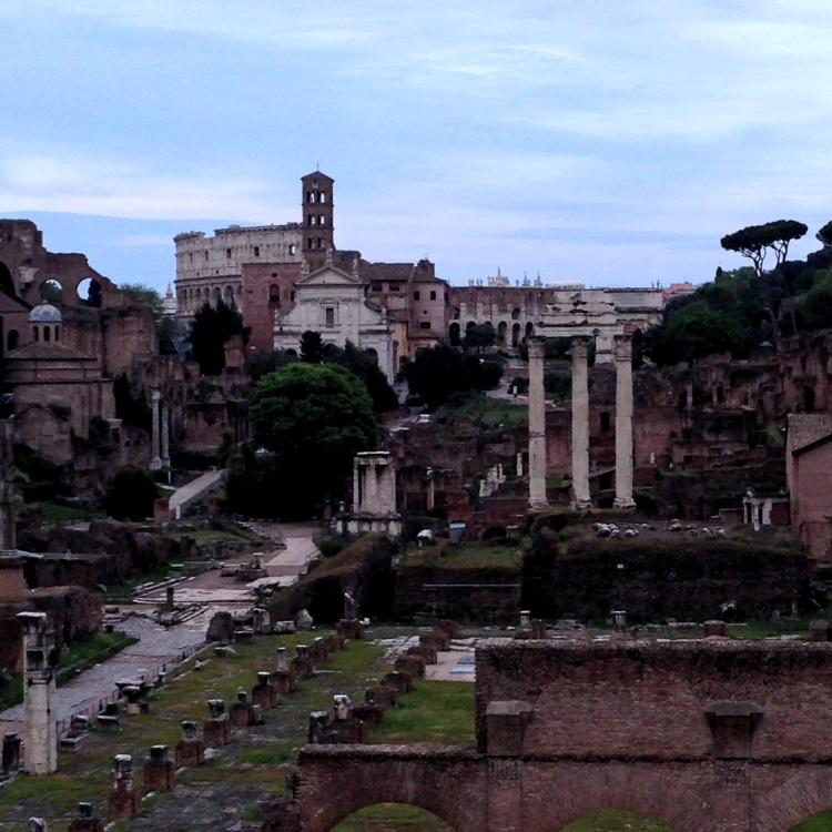 Roma, panorama sui fori imperiali