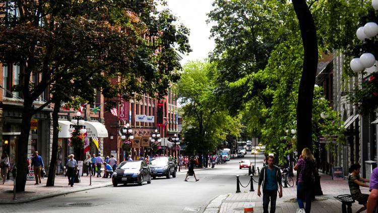 Vancouver, strada principale del quartiere di Gastown.