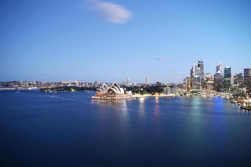 Tramonto sul porto di Sydney